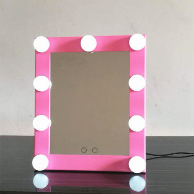 Adjustable Brightness Sqaure Round Lighted Makeup Mirror With Dimmer Stage