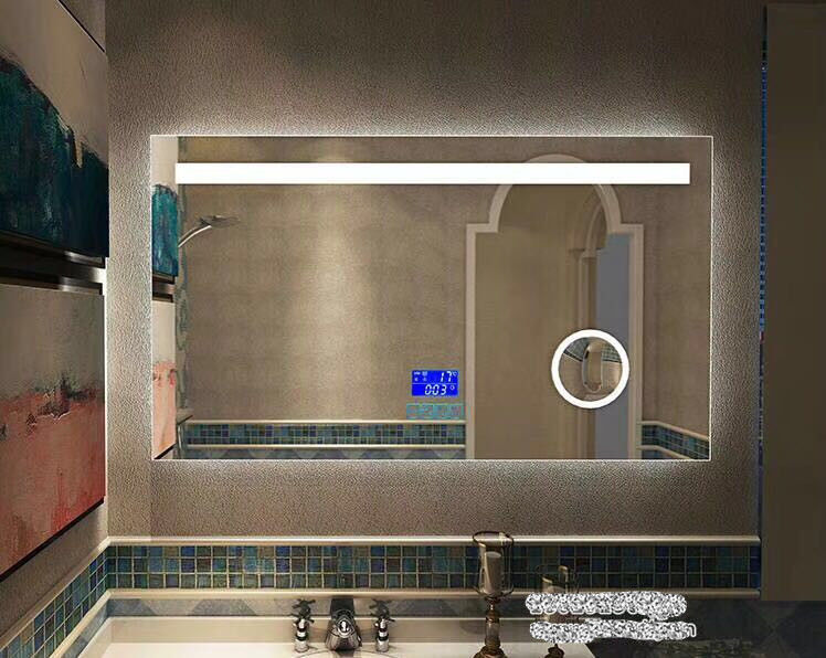 Silver Wall Hanging Bathroom Led Behind Mirror 1200x900mm Rust Resistant